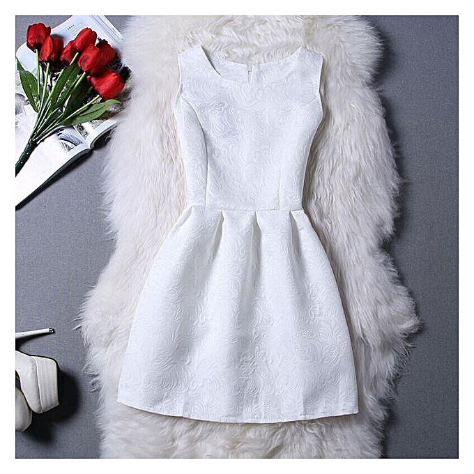Fashion femmes Elegant Evening Casual Sleeveless A-Line Dresses WH M à prix pas cher