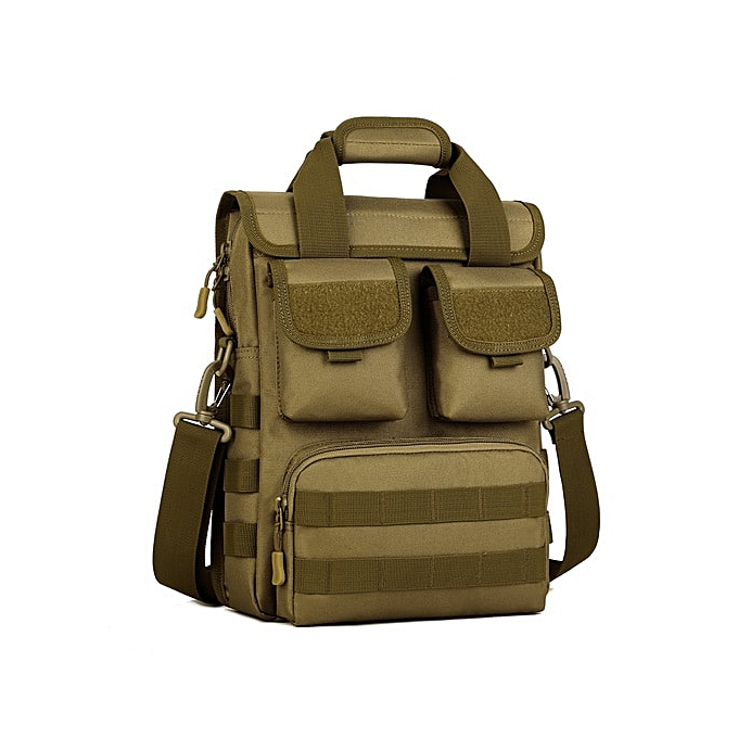 Other Multi-function  Nylon Bag Waterproof Camouflage Men Handbags A4 Single Shoulder Bag 2019 Free Shipping Z145(Wolf marron) à prix pas cher