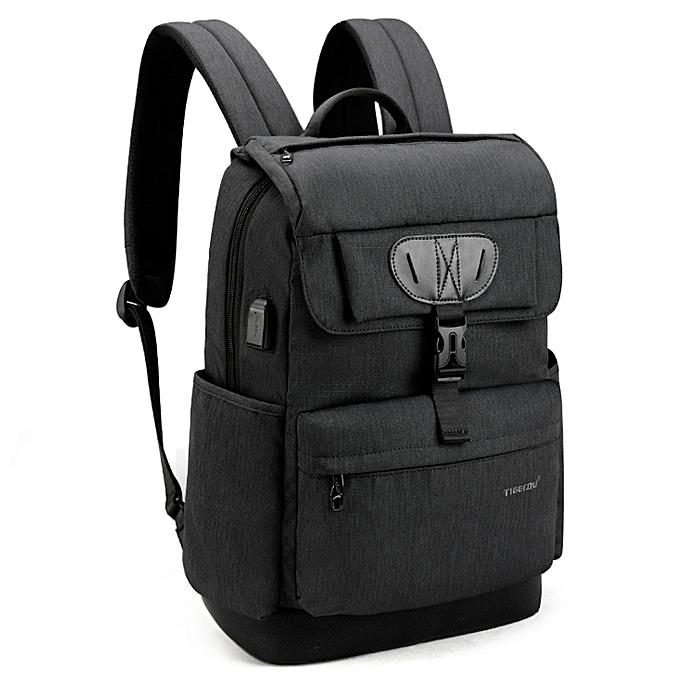 OEM New 15.6 Laptop Men's Backpack USB charging Bag noir à prix pas cher