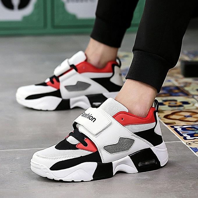Other mode été Hommes's respirant engrener chaussures Lace up Sports chaussures -blanc rouge à prix pas cher