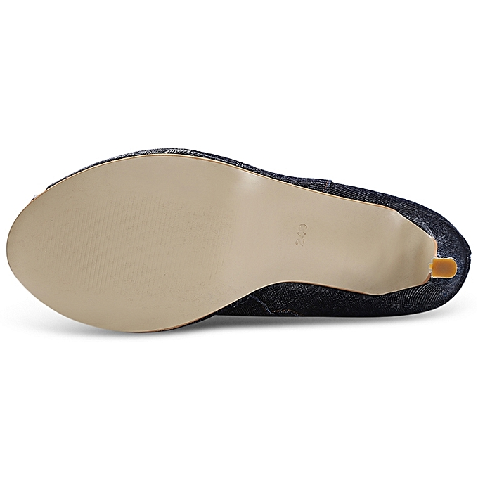 Fashion High-heeled Female Trendy Broken Denim Tube Peep Toe Thin High-heeled Fashion Over-knee Boots à prix pas cher  | Black Friday 2018 | Jumia Maroc e59518