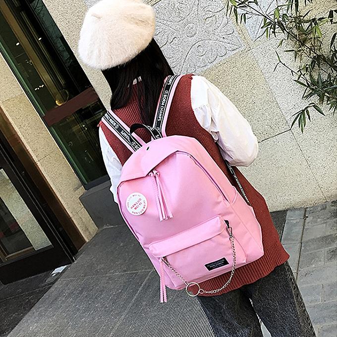 mode whiskyky store Wohommes mode Candy Couleurs Letter Shoulder sacs sac à dos voyage sac à dos-rose à prix pas cher