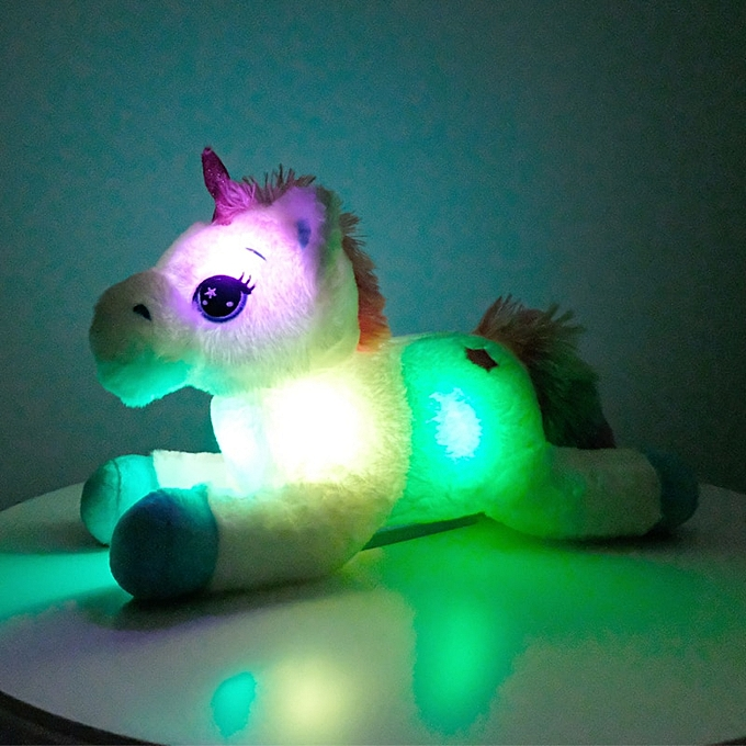 Autre 40cm Couleurful LED Unicorn Plush Toys GFaibleing Stuffed Animals Horse Toy Cute lumière Up Pony Doll Enfants Girls Xmas Birthday Gifts(led blanc) à prix pas cher