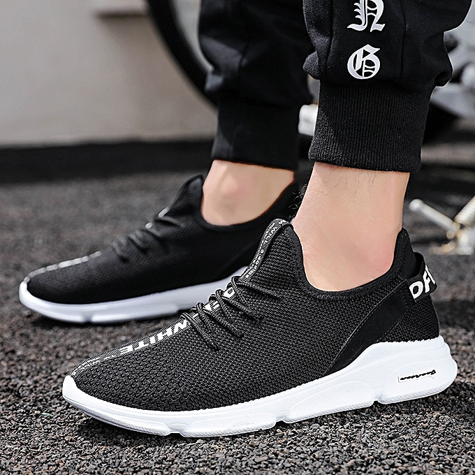 OEM New hommes chaussures hommes casual chaussures Korean version of the trend of flying woven mesh chaussures breathable chaussures-noir à prix pas cher    Jumia Maroc