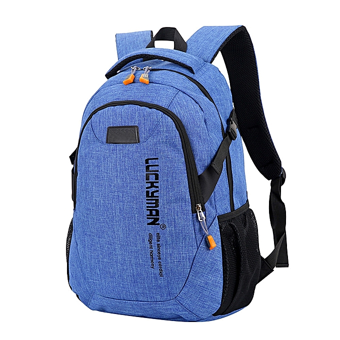 Fashion Tcetoctre Backpack canvas Travel bag Backpacks Unisex laptop bags Designer student bag-bleu à prix pas cher