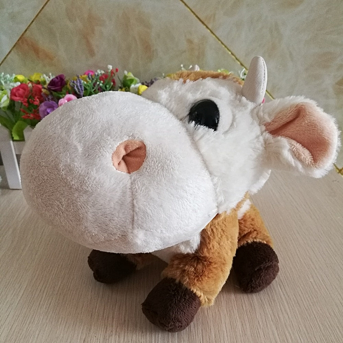 Autre Big Eyed Stuffed Cattle Plush Toy Tcc Cute Animal Doll Good Quality Christmas Gift Girls Kids Toy Big headz Head(good quality) à prix pas cher