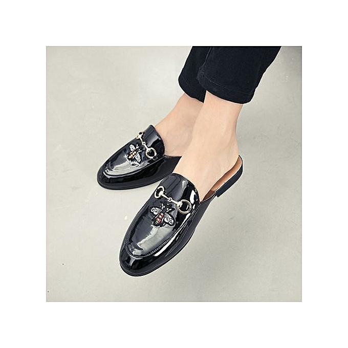 Tauntte Formal Slippers Men Leather chaussures Casual Moccasins (Wnoir) à prix pas cher    Jumia Maroc