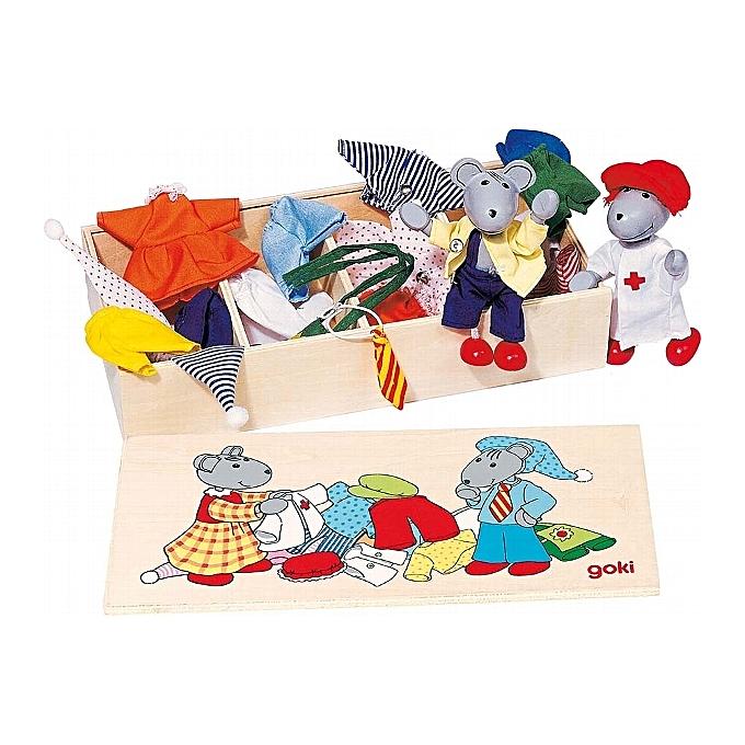 GOKI Garde-robe des souris, boîte de vêtements, Lia & Luca à prix pas cher