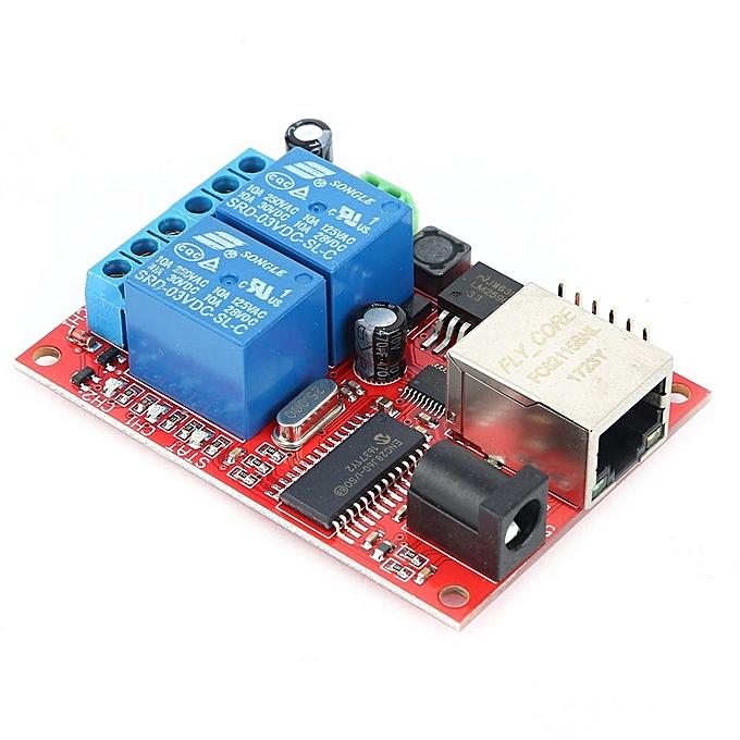 Generic OR Relais de la carte Ethernet LAN TCP UDP du commutateur serveur WEB Module de contrôleur-MultiCouleur à prix pas cher