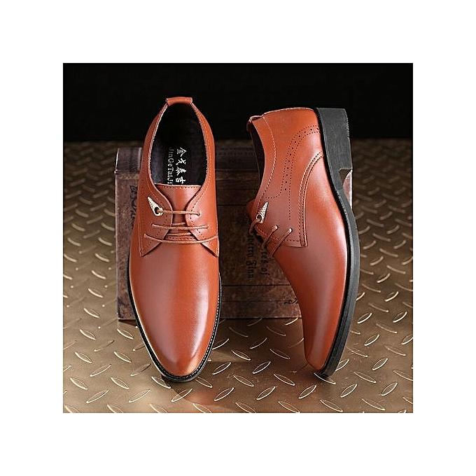 Générique Fashion Oxford Business   Shoes Genuine Leather High High Leather Quality Soft Casual Slip On Breathable  's Flats Zip Shoes-Marron  à prix pas cher  | Jumia Maroc c2c78d