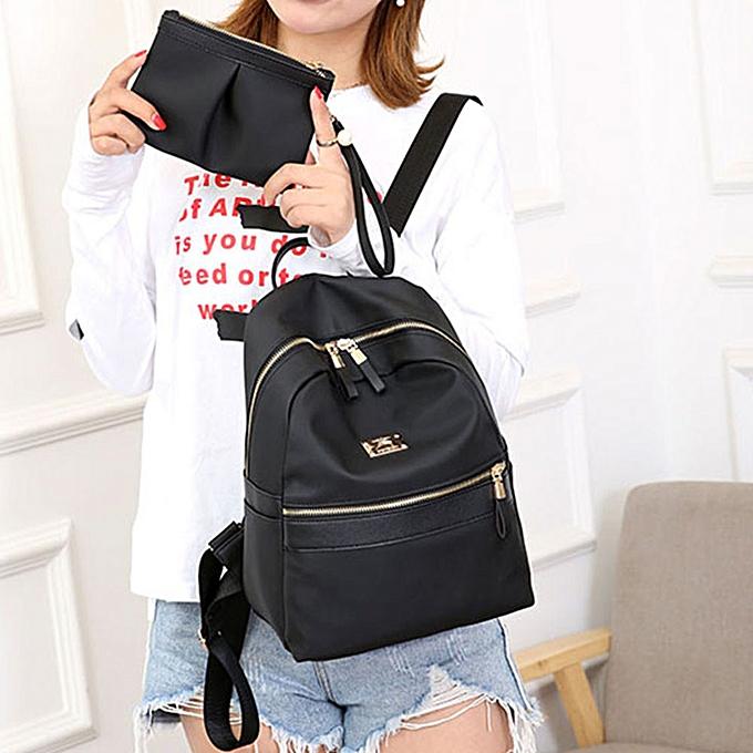 mode Singedan Shop femmes mode Two Piece Set Solid Shoulder sac sac à dos Handsac Pruse Zipper sac à prix pas cher