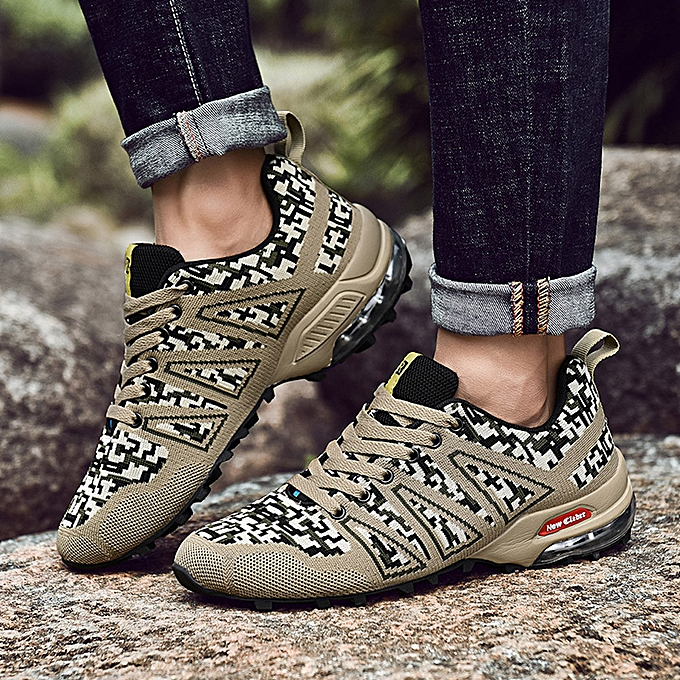 Fashion Hiamok   Men's  Outdoor Mountaineering chaussures  Non-Slip Mesh Breathable Lace-up baskets à prix pas cher