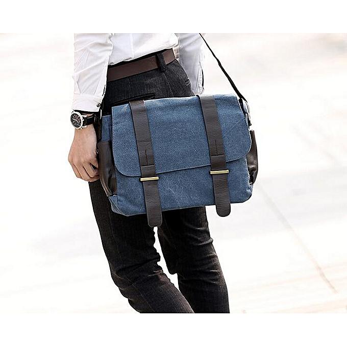 Other ANAWISHARE Hommes Messenger sacs grand toile bandoulière sacs School Shoulder sacs Laptop sacs voyage Handsacs Bolsa Feminina(bleu) à prix pas cher