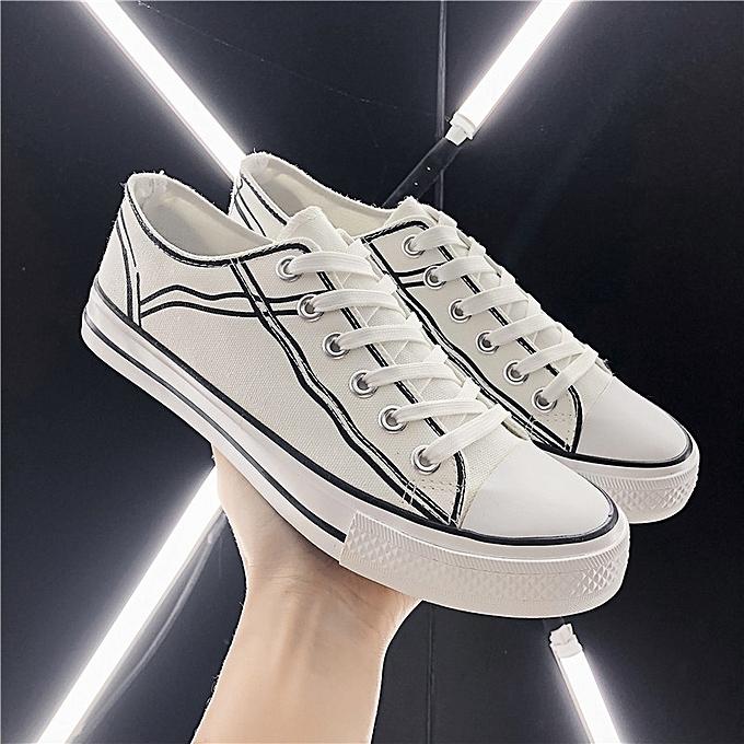 Other Spbague nouveau mode Décontracté respirant Hommes's toile Sports chaussures-blanc à prix pas cher