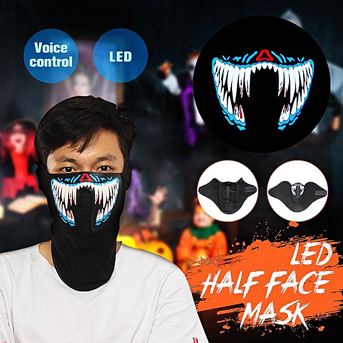 OEM The Old Tree LED Half Face Mask Equalizer Flashing Rave Party by Music Luminous Cosplay Dance à prix pas cher