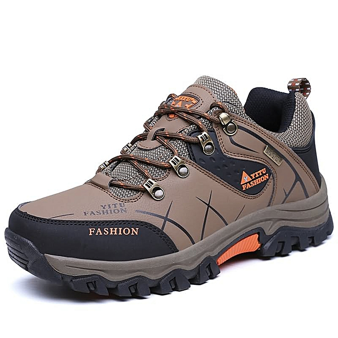 Fashion Man hiking mountaineering plus Taille hommes chaussures - Khaki à prix pas cher
