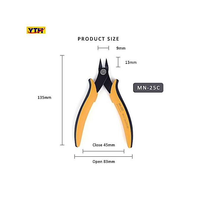 Autre MN-25P Electrical Cable Wire Stripper Cutter Cutting Side Snip Jewelry  Multi-function tool  clplier Making Hand Tool(MN-25c)( 5.5inch) à prix pas cher