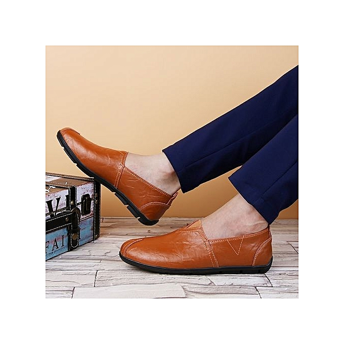 Fashion  s Slip-On Slip-On Slip-On Casual Shoes Soft Driving Shoes-Brown à prix pas cher  | Jumia Maroc 376d8f