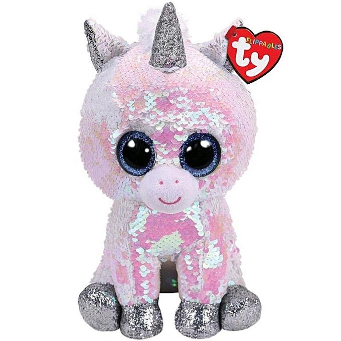 Autre Ty Beanie Boos Sequin Animal Plush Toys Doll Cat Owl Fox Bunny Unicorn Best Christmas Gift 15cm(Diamond The Unicorn) à prix pas cher
