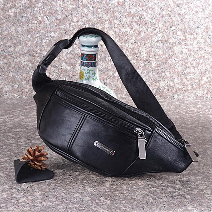 Fashion Men Leather Waist Bag Pouch Pocket Fanny Bum Shoulder Chest Bags Outdoor Pack à prix pas cher