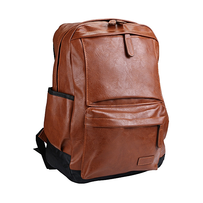 mode quanxinhshang _Vintage sac à dos voyage cuir Handsac sac à dos Shoulder School sac BW à prix pas cher