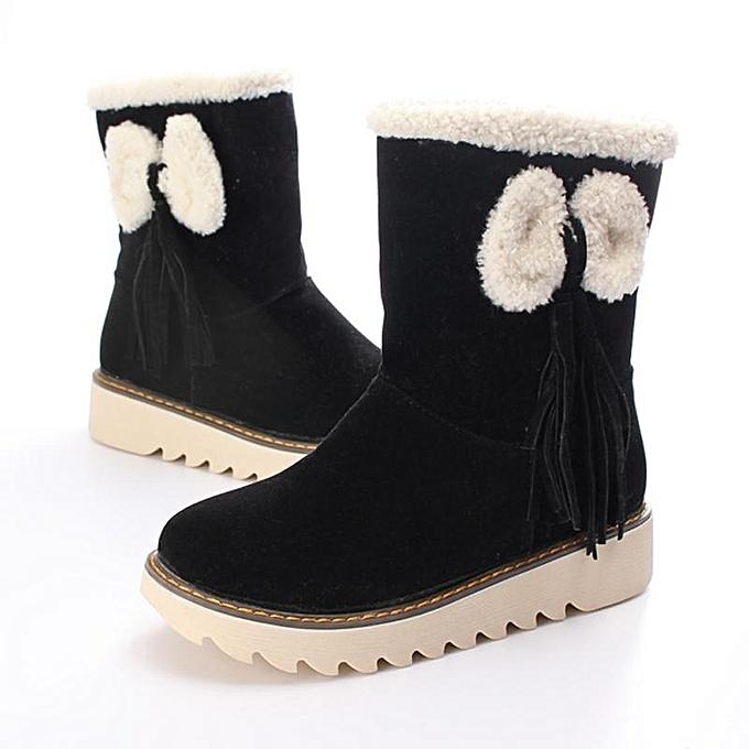 Fashion WoHommes   WoHommes   Winter Warm Snow Boots Plus Size Slip-on Bowknot New Fashion Shoes à prix pas cher  | Jumia Maroc c6d997