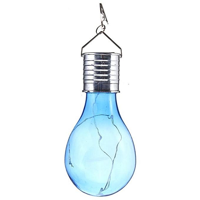 UNIVERSAL Solar rougeatable Outdoor Waterproof Garden Camping Hanging LED Light Lamp Bulb bleu Cover à prix pas cher