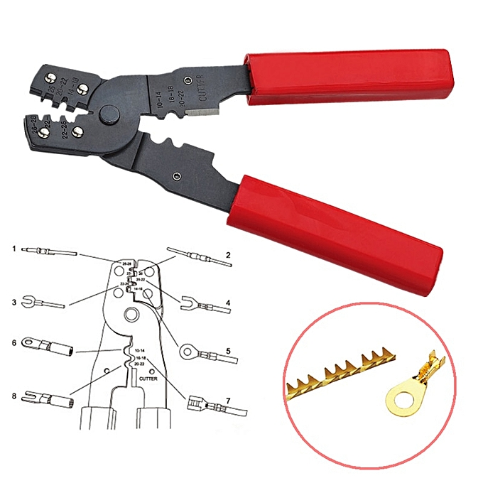 Autre 1pc HS-202B Multifunctional Crimping Pliers Mini Electrical Wires Terminals Crimpper Tool 170mm à prix pas cher