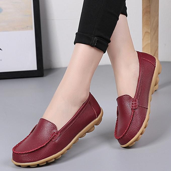 HT Plus Size Wo pas  Leather slip-ons Fashion Loafers à prix pas Wo cher  | Black Friday 2018 | Jumia Maroc 871603