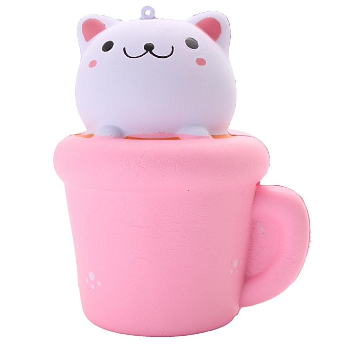 UNIVERSAL Cupcake Cat SFaible Rising Squishy Scented Squeeze Toy Fun Soft Relieve Stress Gift   L à prix pas cher
