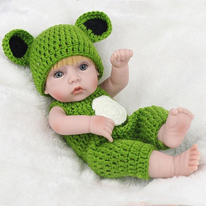 Autre 28cm   Doll jaune Hair Eco-friendly Silicone Boy With Frog Bodysuit skin Couleur&vert 28cm à prix pas cher