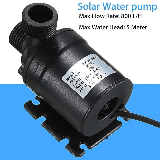 UNIVERSAL 2PCS DC 12V 24V Hot Water Circulation Pump Solar Water Pump Brushless Motor 800L H à prix pas cher