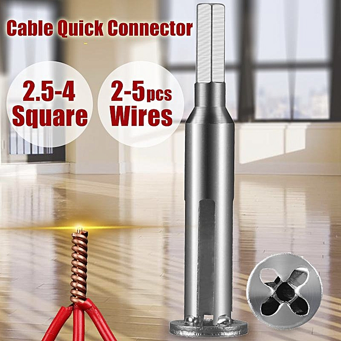 Autre Practical 2.5 4 Square Universal Wire Twisting Tool Electrical Cable Quick Connector Twisting Wire Stripping Stripper Twister à prix pas cher