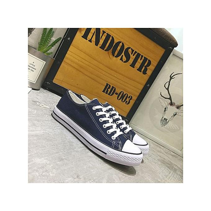 OEM New classic canvas chaussures vulcanized hommes chaussures couple models student chaussures autumn Korean version-bleu1 à prix pas cher