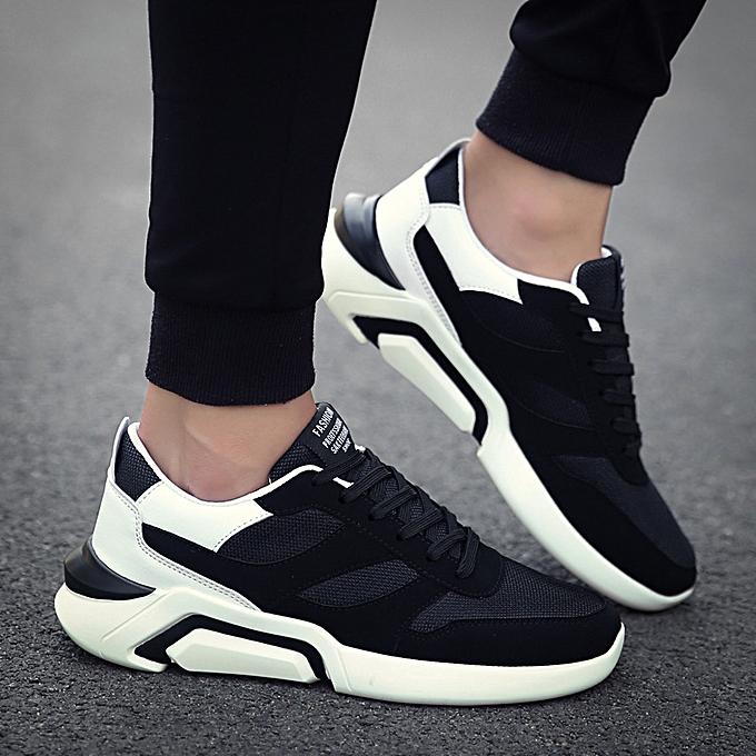 Fashion Men's chaussures breathable baskets wild hommes casual chaussures noir blanc à prix pas cher    Jumia Maroc