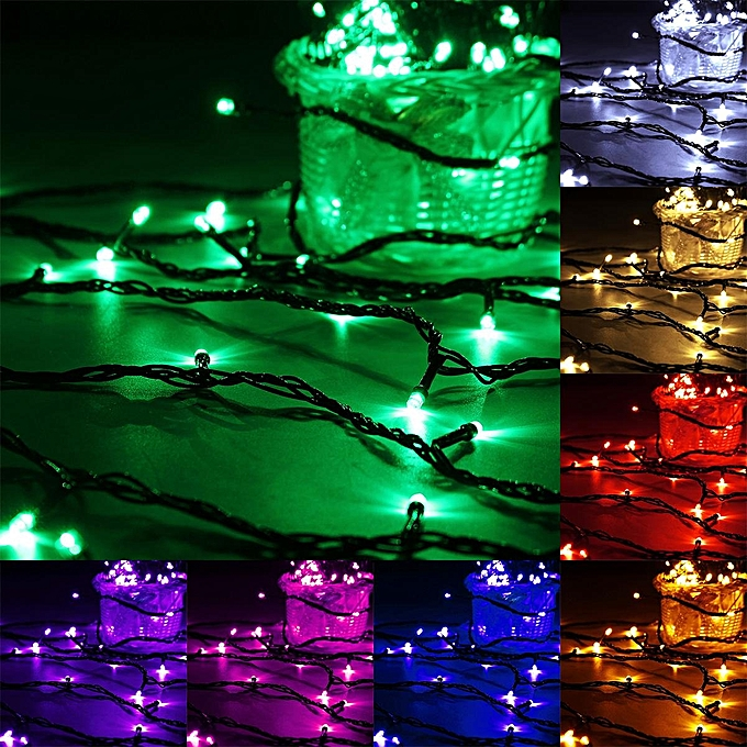 UNIVERSAL 20M 200 LED String Fairy Light Outdoor Christmas Xmas Wedding Party Lamp 220V vert à prix pas cher