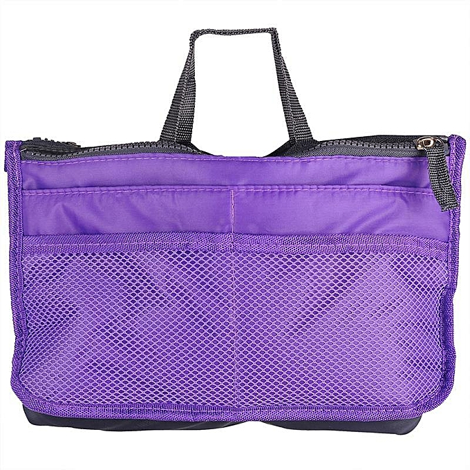 Other femmes comestic Organizer sac In sac Double Zipper portable Multifunctional voyage Pockets Handsac Makeup sac(violet) à prix pas cher