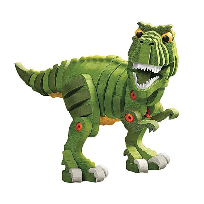 Generic 3D EVA Puzzle Handsome Dinosaur Model DIY Gadget Blocks Building Toy Gift à prix pas cher