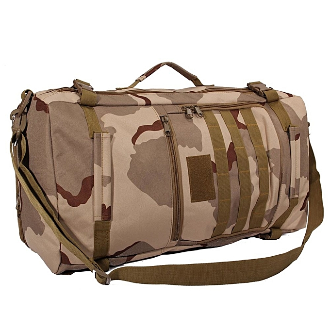 mode imperméable de plein air Military Tactical Pack Sports sac à dos sac Camping voyage sac [Three sand camouflage] à prix pas cher