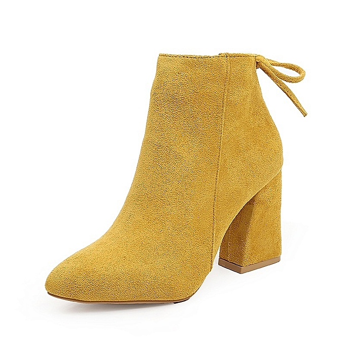Autre Autre Autre Stylish 8.5cm Height Thick Heel WoHommes 's Zipper Short Boots à prix pas cher    Jumia Maroc 4c90bc