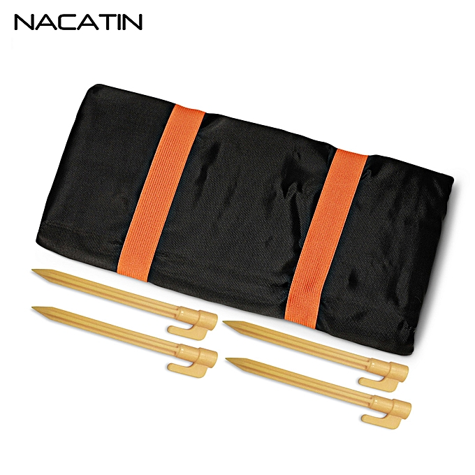 Fashion Water-Resistant Blanket Portable Mat With 4 Stakes,noir à prix pas cher