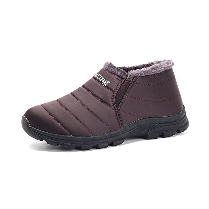 Fashion Fashion   Stripe Soft Warm Plush Lining Ankle Winter Winter Ankle Boots-EU à prix pas cher  | Jumia Maroc 65a004