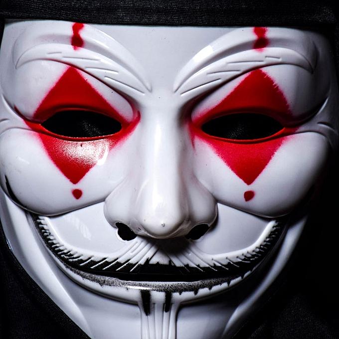 UNIVERSAL Halloween Skull Vampire V Clown Mask Bar Dance Horror Scary Soul Hip-hop Adult à prix pas cher