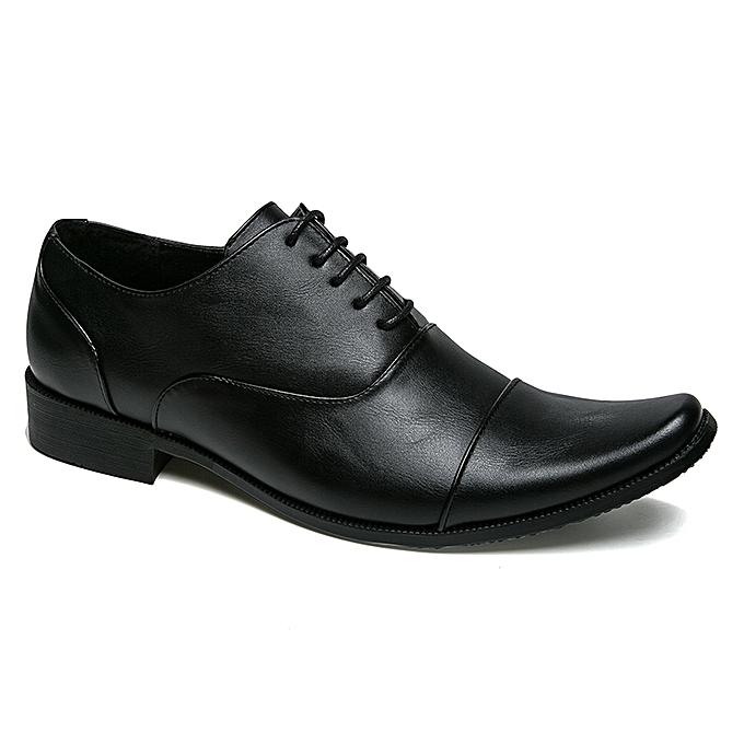 Tauntte Genuine Leather Office Derby chaussures For Men Formal chaussures (noir) à prix pas cher    Jumia Maroc