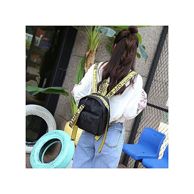 Fashion Singedan femmes Girl Printed Letters Travel Backpack School Bag Shoulder Bag Handbag YE -jaune à prix pas cher