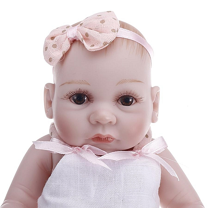 UNIVERSAL NPK 10 Inch 26cm Twins Reborn Baby Soft Silicone Doll Handmade Lifelike Baby Girl Dolls Play House Toys Birthday Gift à prix pas cher