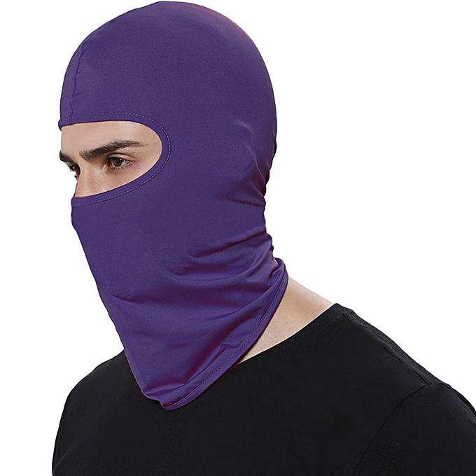 Autre Outdoor Sports Neck Face Mask Winter Warm Ski Snowboard Wind Cap Police Cycling Balaclavas Motorcycle Face Mask( violet) à prix pas cher