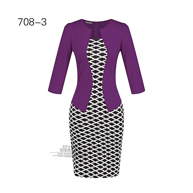 Generic Nice femmes& 039;s Professional sac Hip Pencil mode Comfortable Robe-7 à prix pas cher