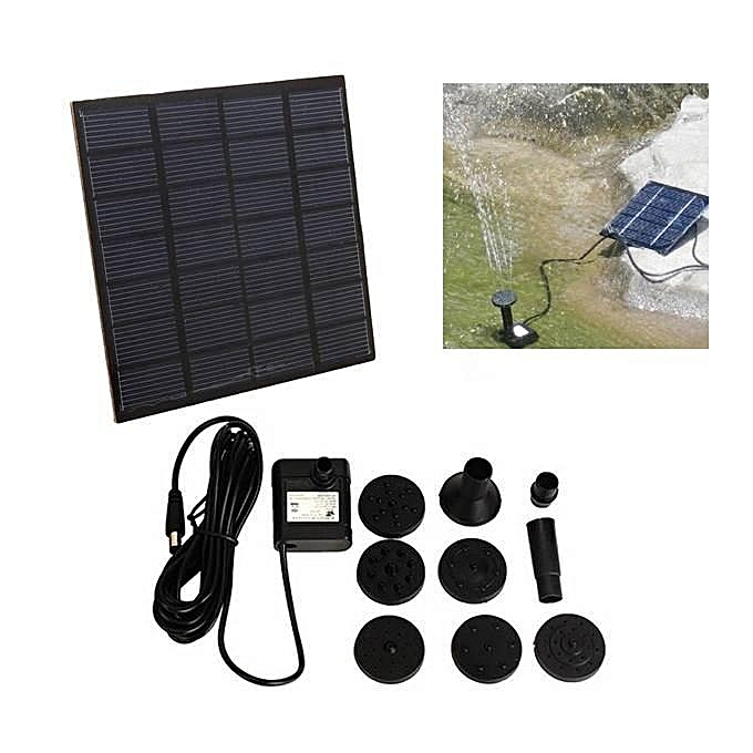 UNIVERSAL 1.2W Mini Solar DC Brushless Submerged Water Pump Fountain à prix pas cher