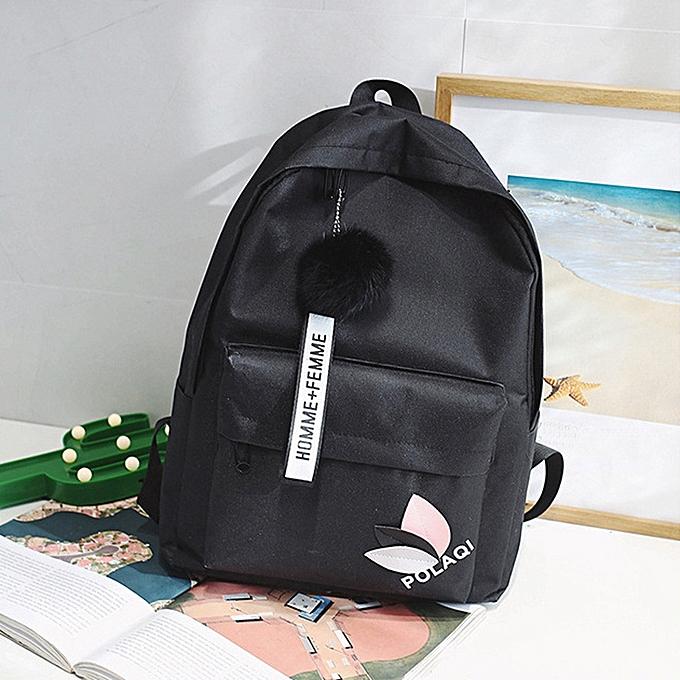 mode Tcetoctre mode Neutral sac à dos sac Shoulder toile School Girls Boy Handsac noir-noir à prix pas cher